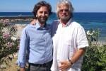Grillo a Palermo, pranzo con Forello e Cancelleri