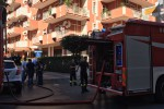 Paura in via dei Nebrodi a Palermo, appartamento in fiamme