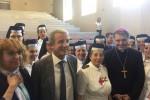 Monsignor Lorefice in visita nei reparti di Oncologia del Policlinico