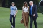 Melania Trump trasloca alla Casa Bianca insieme al figlio