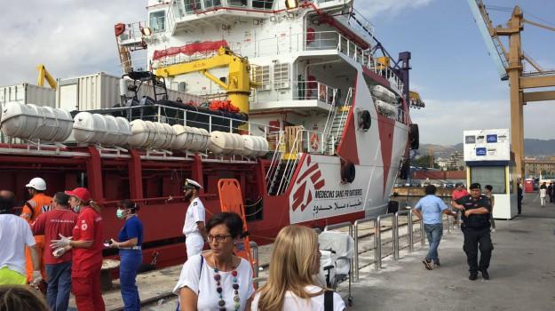 medici senza frontiere, migranti, nave vos prudence, Palermo, Cronaca