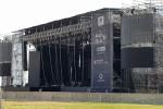 Il palco pronto al Foro Italico (foto di Piero Longo)