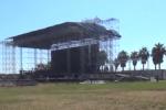 Mega palco in allestimento al Foro Italico, così Palermo si prepara al Concerto di Radio Italia - Video