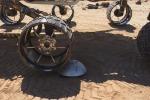 Particolare dei test a Terra per il rove Curiosity (fonte: NASA/JPL-Caltech)