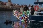 """""""Cosmogonia mediterranea"""", l'installazione di Pellegrino torna nelle acque di Lampedusa"""