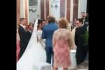 """Scene da un matrimonio ad Alcamo, il video del """"sì"""" fra l'étoile Sara Renda e l'attore Sardonè"""