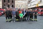 A Messina la tifoseria Nocs visita la caserma dei vigili del fuoco: le foto