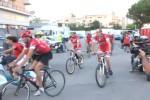 In via D'Amelio, la ciclostaffetta delle Agende rosse per Borsellino