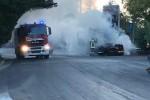 Paura sulla Palermo-Sciacca: in fiamme la motrice di un Tir - Foto