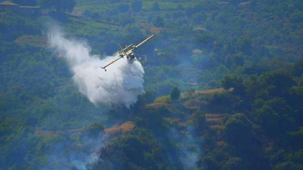 Il caldo alimenta gli incendi, domenica di fuoco tra Palermo e Trapani: impiegati canadair e i nuovi elicotteri