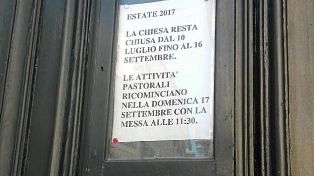 Chiesa, vacanze estive, Sicilia, Cronaca