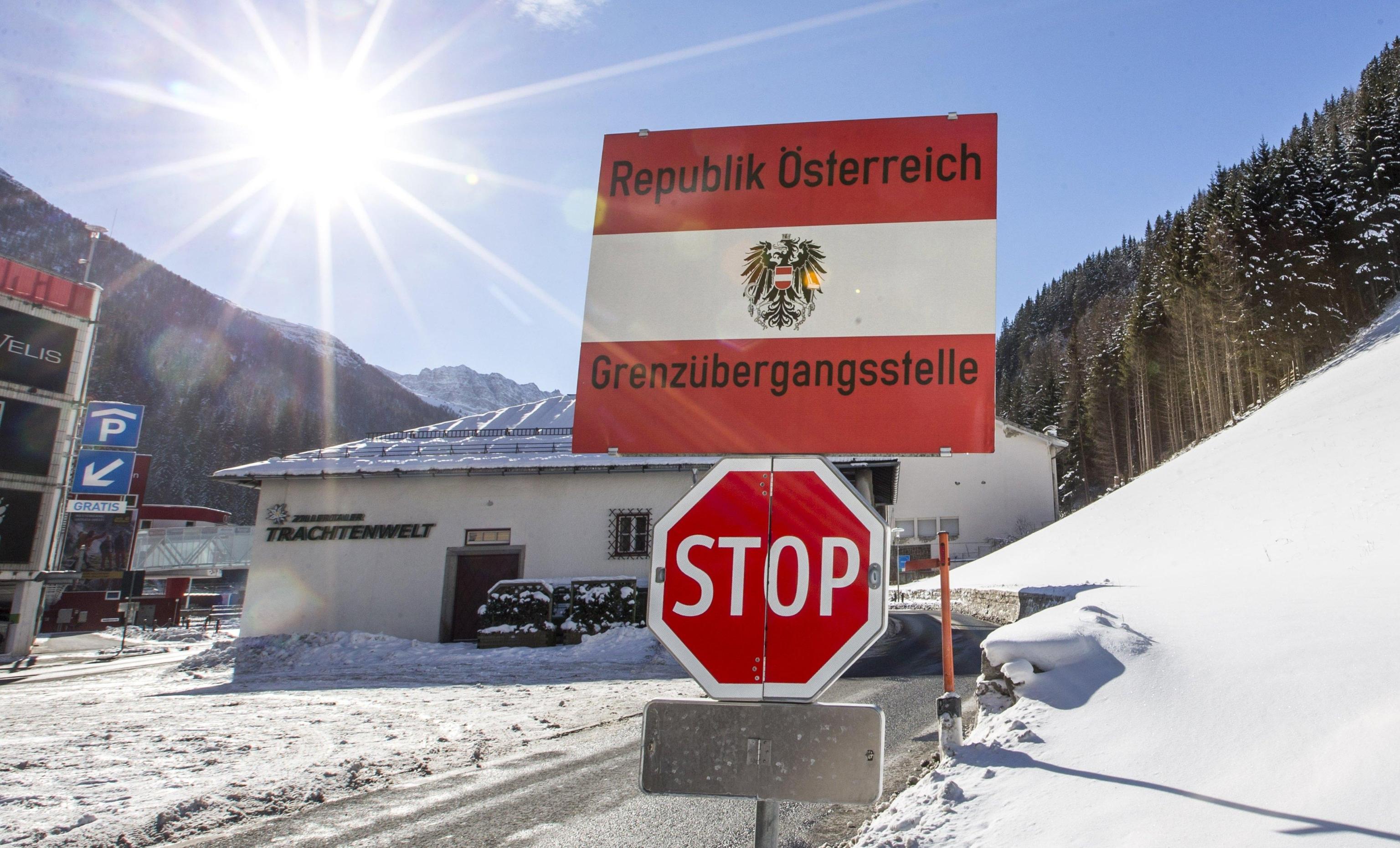 Il confine fra l'Austria e l'Italia