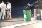 Fusti con liquidi sospetti trovati a Caltanissetta