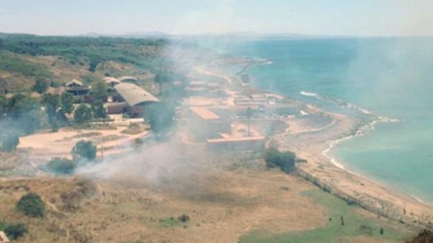 incendio sciacca, Agrigento, Cronaca
