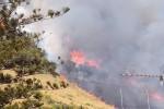 Montagne in fiamme minacciano Castellammare, canadair in azione - Foto