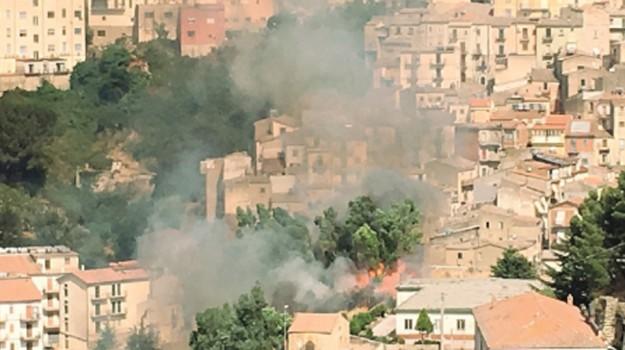 incendio nicosia, Enna, Cronaca
