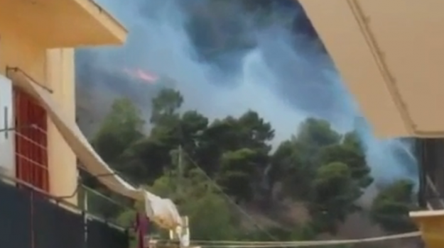 incendi boschivi a trapani, Trapani, Cronaca