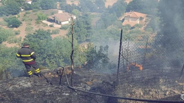 Incendi nell'Ennese, Enna, Cronaca