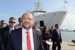 Schulz a Catania: visita un centro di accoglienza con Minniti