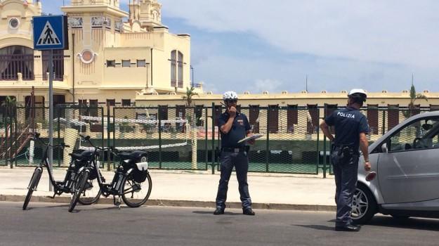 polizia bici, scippi, Palermo, Cronaca