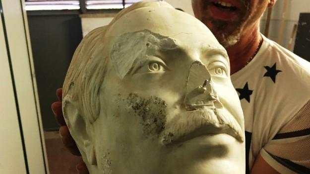 statua falcone vandalizzata, Palermo, Cronaca