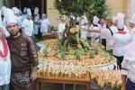 Una torta di 450 chili per onorare San Calogero ad Agrigento