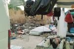 Triscina, il mercatino in mezzo ai rifiuti
