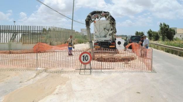lavori via libica trapani, Trapani, Cronaca