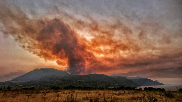 incendi in sicilia, riserva dello Zingaro, Trapani, Cronaca