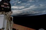 L'ombra dell'eclissi sulla Terra fotografata da Nespoli