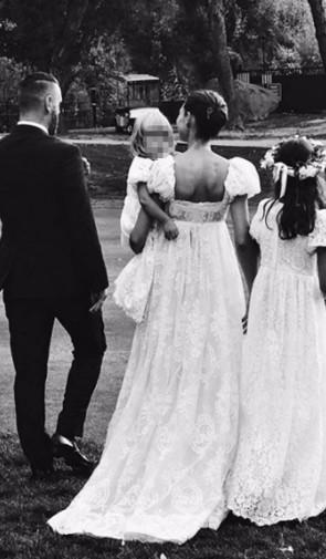 Vestiti Da Sposa Dolce E Gabbana.Bianca Balti In Abito Da Sposa Firmato Dolce E Gabbana Le Foto