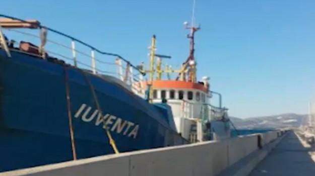 sequestro nave iuventa, Trapani, Cronaca