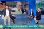Litiga con il sindaco di Ischia in diretta tv, Tiberio Timperi sbotta e lascia lo studio