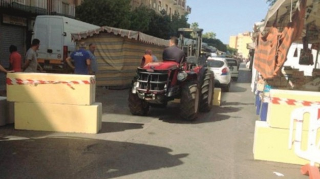 Barriere antiterrorismo, Agrigento, Cronaca
