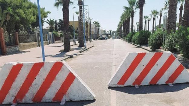 Barriere a San Leone, Agrigento, Cronaca