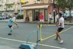 San Cataldo, un torneo in strada di calcio-tennis
