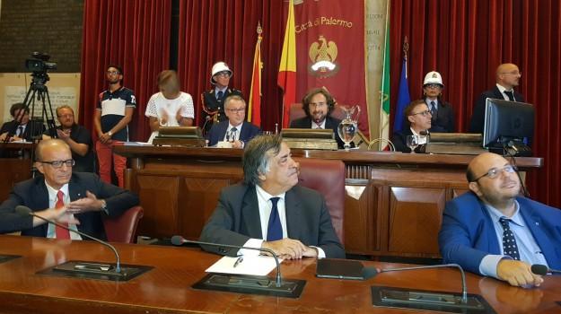 presidente consiglio palermo, Barbara Evola, Giusto Catania, Leoluca Orlando, Totò Orlando, Ugo Forello, Palermo, Politica