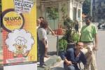 De Luca è già in campagna elettorale, a Messina con una pecora al seguito