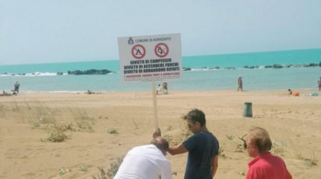 falò in spiaggia, Agrigento, Cronaca