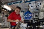 AstroPaolo indaffaratissimo con gli esperimenti della missione Vita
