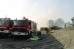 Incendio in un centro per la raccolta differenziata a Canicattì: grande nube nera