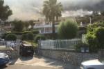 Incendio e paura a Capo Zafferano, le fiamme sfiorano le villette