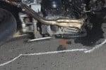 La moto rimasta coinvolta nell'incidente (Foto Siracusa News)