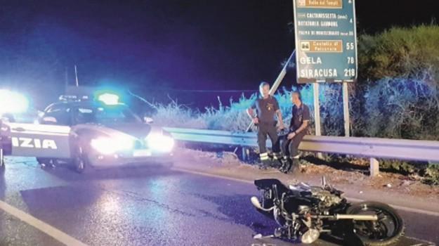 incidente moto agrigento, Agrigento, Cronaca