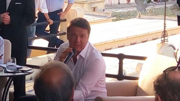 renzi a palermo, Matteo Renzi, Palermo, Politica
