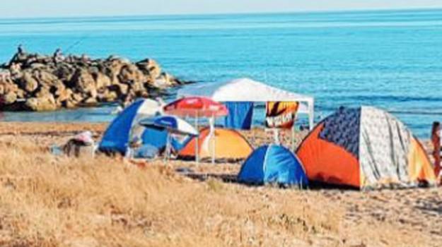 tende in spiaggia multe agrigento, Agrigento, Cronaca