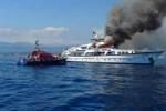 Affondato dopo un incendio lo yacht dell'imprenditrice Diana Bracco