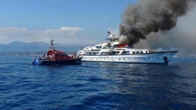 Yacht di Diana Bracco, Sicilia, Cronaca