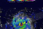 Irma, le immagini dell'uragano in 3D