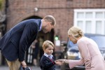 Primo giorno di scuola per George: lo accompagna William, Kate a casa con le nausee - Foto